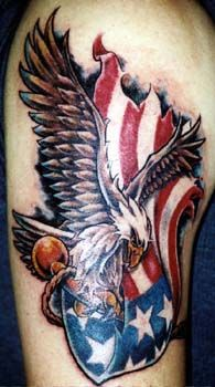 Eagle tattoos can indicate love as well as power and authority. In this article you can find 11 Best Eagle tattoo designs that you can consider if you would like to get one. Life Tattoos, Body Art Tattoos, New Tattoos, Tattoos For Guys, Tattoo Art, Tatoos, Patriotic Tattoos, Military Tattoos, Army Tattoos