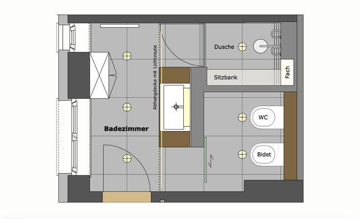 Der Grundriss Zeigt Die Aufteilung Des Badezimmers Mit Dem Waschbecken Im Raum Aufteilung Badezimmers G Badezimmer Grundriss Badezimmer Grundriss Wohnung