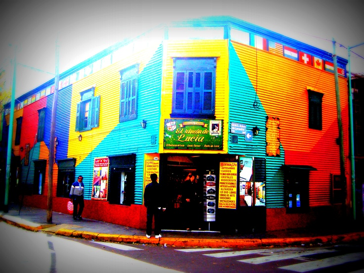 #bar #color #argentina #caminito