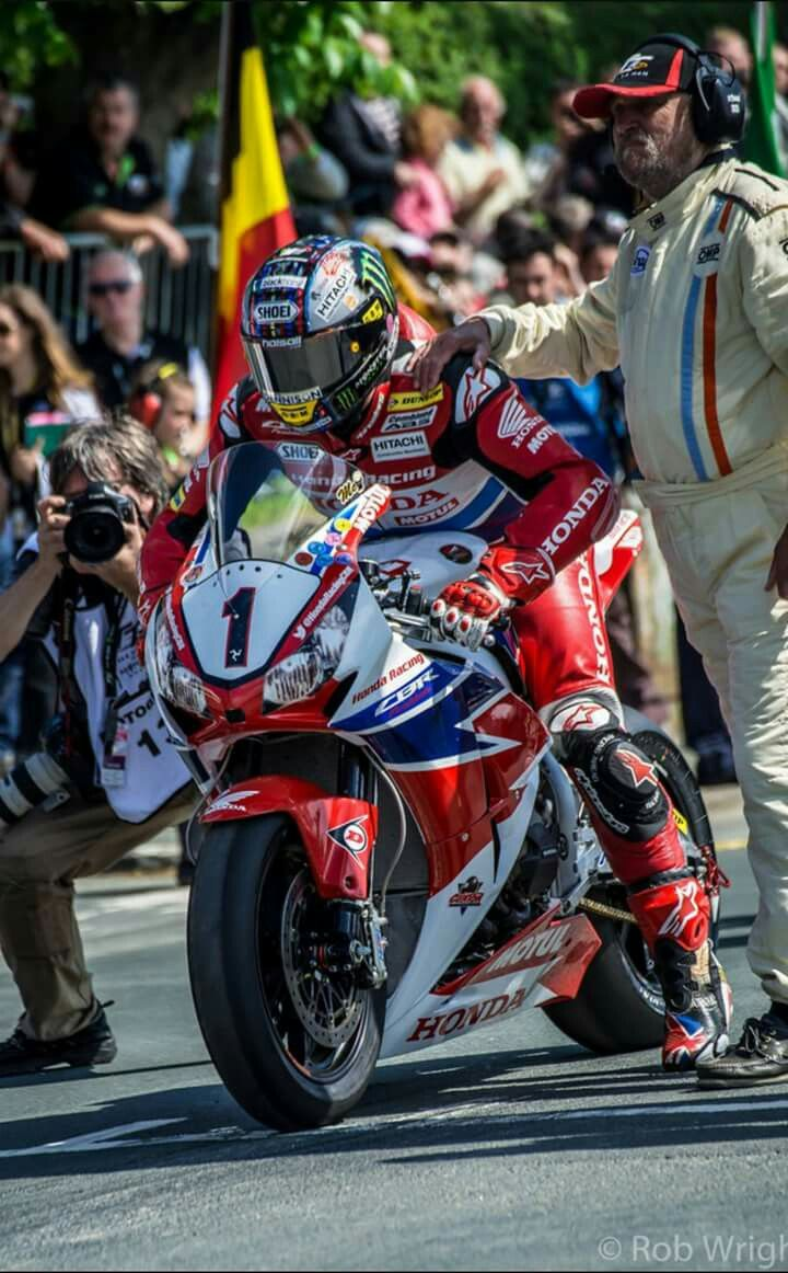 John McGiunness ready to be unleashed at the start line of the isle of man TT