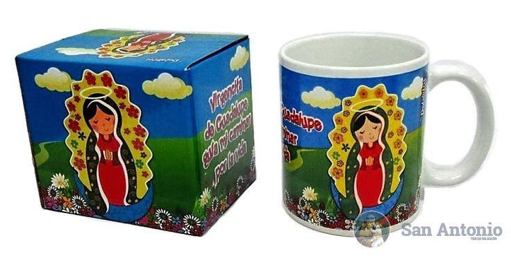 Mug De La Virgencita De Guadalupe: Taza de porcelana con hermoso motivo de la virgen infantil.