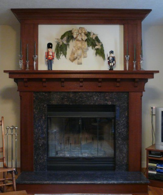 Arts and crafts fireplace pats fireplace ideas pinterest for Craftsman fireplace pictures