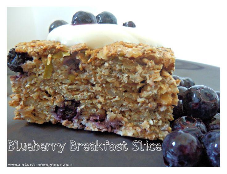 breakfast blueberry slice