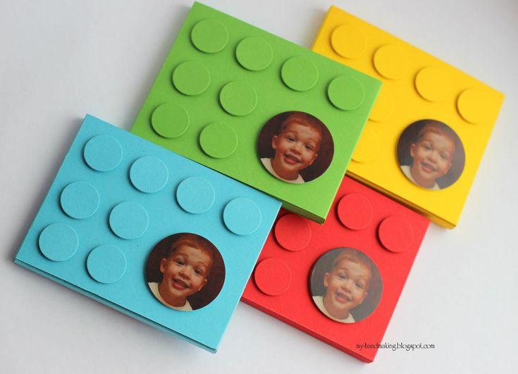 Приглашения на день рождения в стиле LEGO