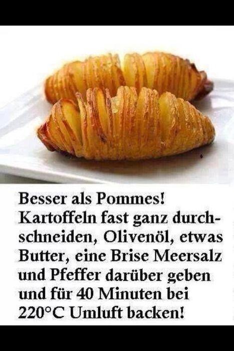 """ganze Kartoffel als """"Pommes"""""""