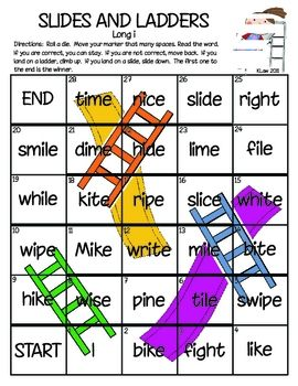 Long Vowels Phonics And Ladder On Pinterest