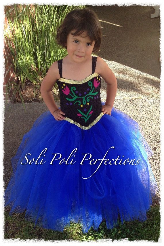 Princess Anna Inspired Tutu Dress by SoliPoliPerfections on Etsy