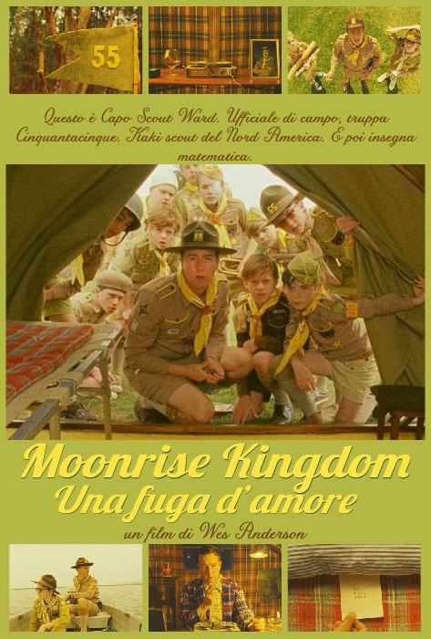 Il Capo Scout Ward (Edward Norton) in Moonrise Kingdom di Wes Anderson