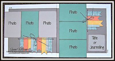 Image result for 2 page scrapbook layouts