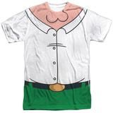 Behold the Family Guy - Peter Costume Sublimated T-Shirt. Now you can be part of the hype with this dye sublimated, officially licensed sublimated t-shirt made of 100% polyester. This sublimated t-shirt is perfect for a true Family Guy fan.  Be sure to keep in mind production and shipping times when ordering your Halloween costume!
