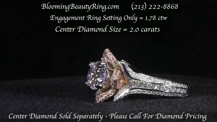 Original Large Blooming Beauty Flower Style Ring By BloomingBeautyRing.com