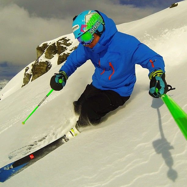 Hmmm post a heli skiing pic from yesterday or slalom training pic from today...Mm Heli skiing pic. @GoPro #Padgram