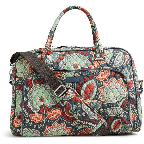 Vera Bradley Weekender Travel Bag in Nomadic Floral ($98) ❤ liked on Polyvore featuring bags, luggage and nomadic floral
