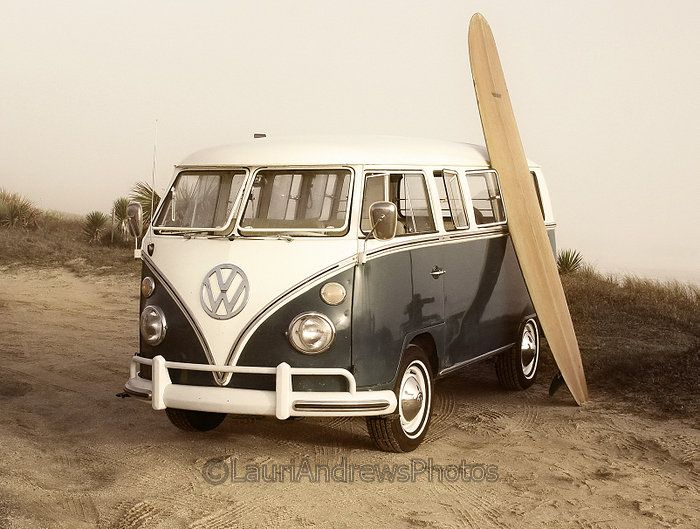 All you need for #Fun is #Boards and a #Bus! #Volkswagen #Adventure #Explore #Travel #Beach #RoadTrip #VW #Wanderlust
