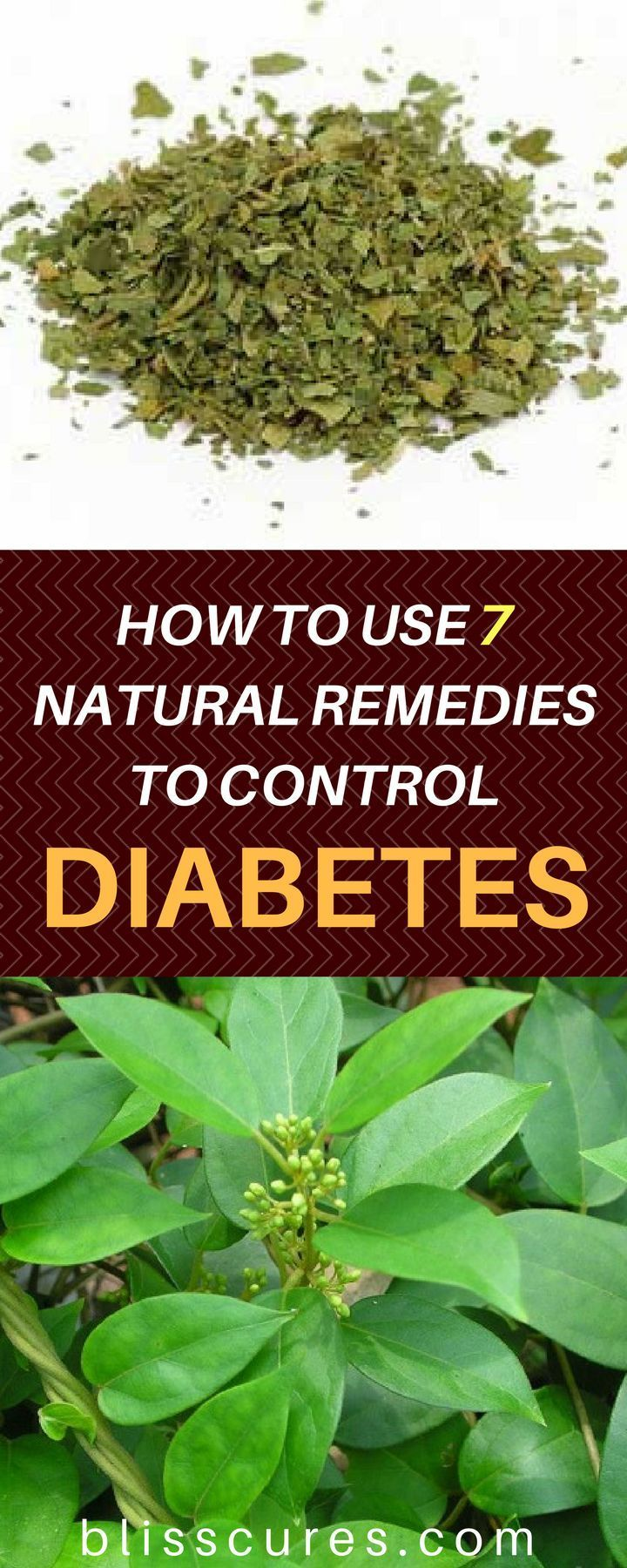 HOW TO USE 7 NATURAL REMEDIES TO CONTROL DIABETES