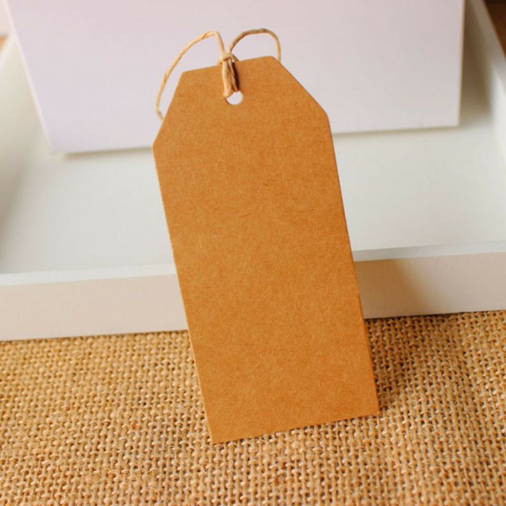Wholesale 4.5x9.5cm Cardboard Blank price Hang tag Retro Kraft Gift Hang tag 500pcs/lot-in Packaging Labels from Industry & Business on Alie...