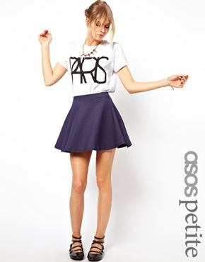 ASOS PETITE Exclusive Denim Skater Skirt $25 free delivery no minimum spend