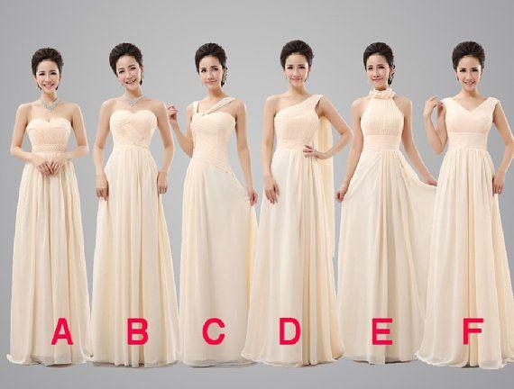 Bridesmaid Dress,Peach Bridesmaid Dress,Simple Chiffon Prom Dress,Long Prom Dress