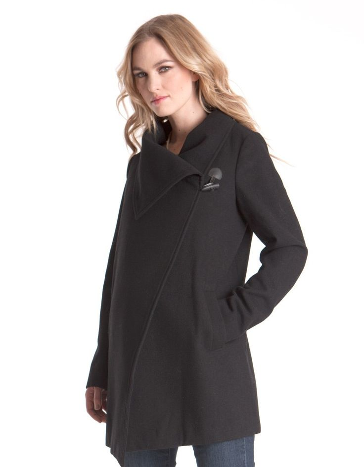 Seraphine Maternity Clarence Wool/Cashmere coat! Looks great with NO bump too!