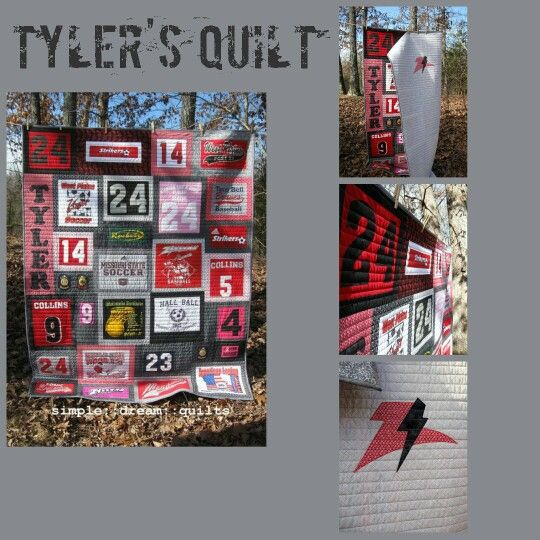 Tyler's memory quilt by simpledreamquilts.com: