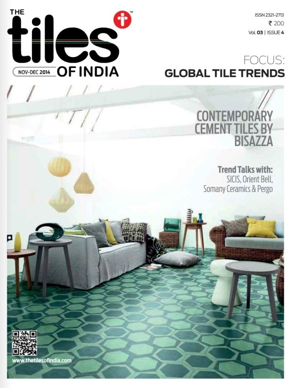 THE TILES OF INDIA Magazine is an print magazine cum online news portal that reaches out in all aspects of the industry, widely connecting to Manufacturers, Traders, Importers, Marketers, Builders & Developers, Architects, Interior Designers, Product Designers, Industry Experts, Civil Engineers, Contractors & Consultants, Installers and Consumers.