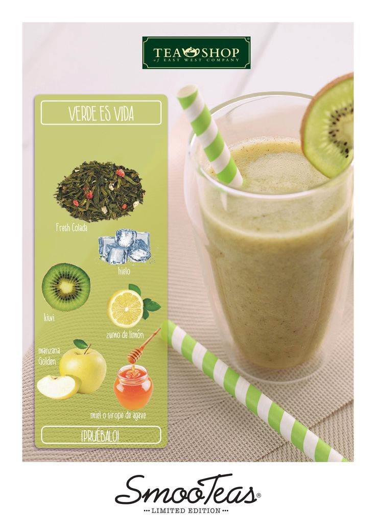 Smootea es un smoothie con una base de té. ¿Qué sabor TÉ gusta?