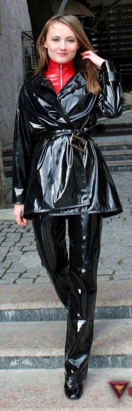 Black PVC Raincoat
