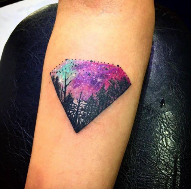 Cosmic Diamond Tattoo | TattoBlend