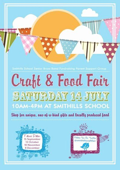 Craft Fair Flyer Template Free Awesome Smithills July