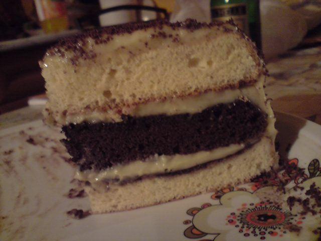 Ablakom: Somlói galuska torta....