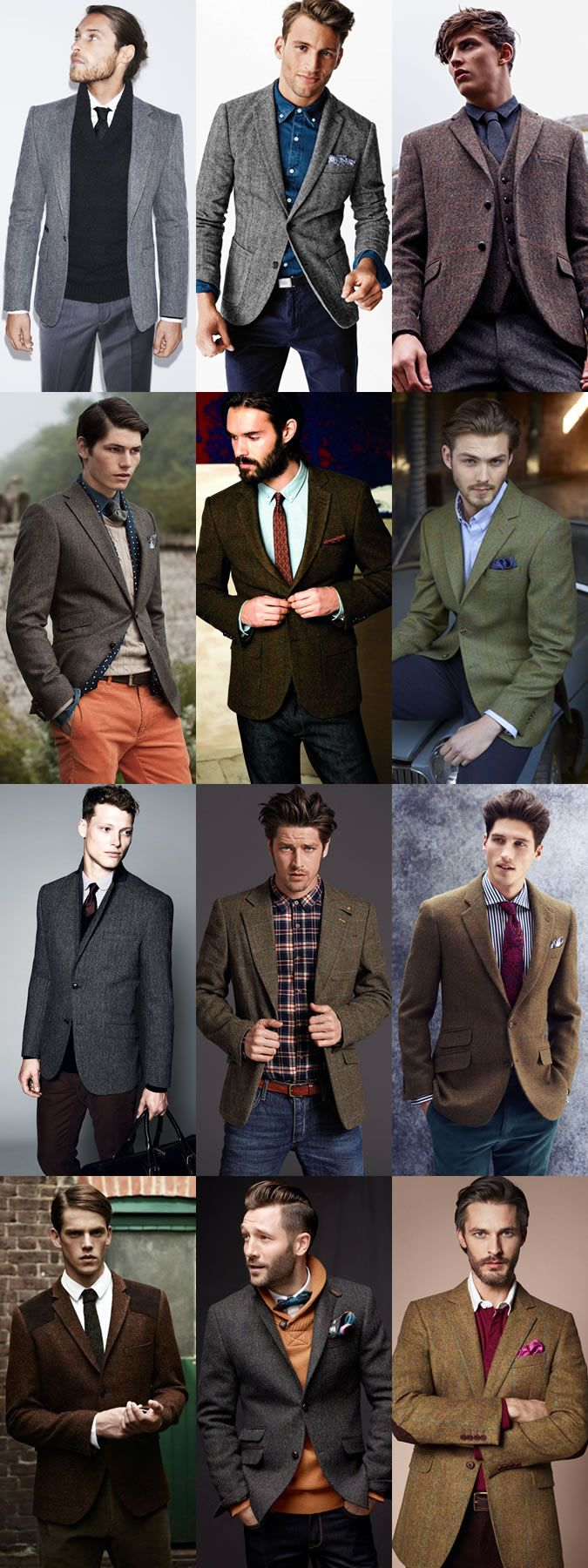 Key Menswear Pieces For Autumn/Winter 2014 : The Tweed Blazer Lookbook Inspiration