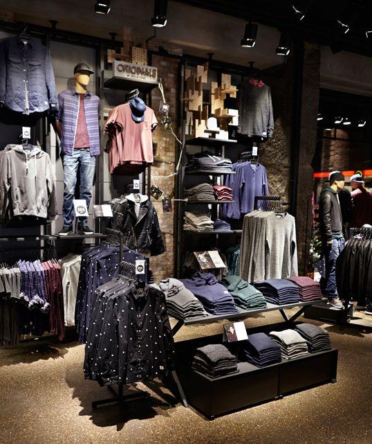 ORIGINALS shop area of JACK & JONES flagship store in Copenhagen