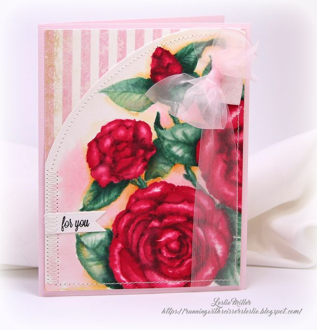 Running With Scissors...: No-Line Watercolored Valentine Camellias