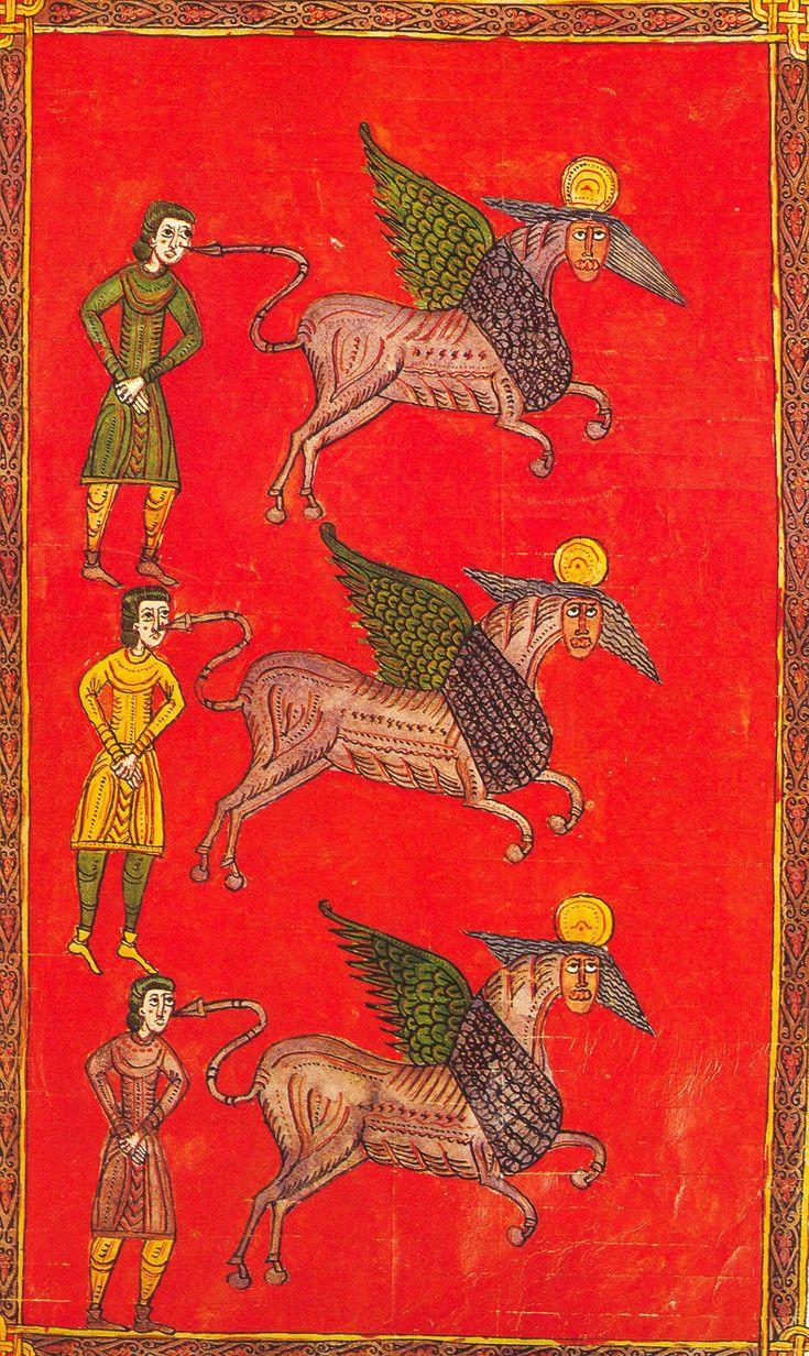 Beatus d'Osma, les chevaux infernaux.