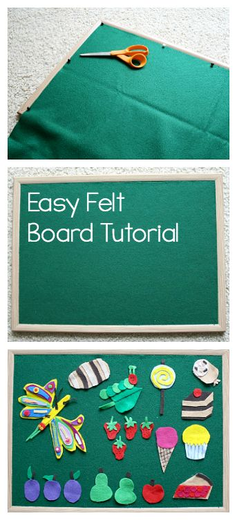 DIY Felt Board: Here's an easy tutorial for making your own flannel board for home or the classroom! Great for retelling stories or creating! ~ BuggyandBuddy.com