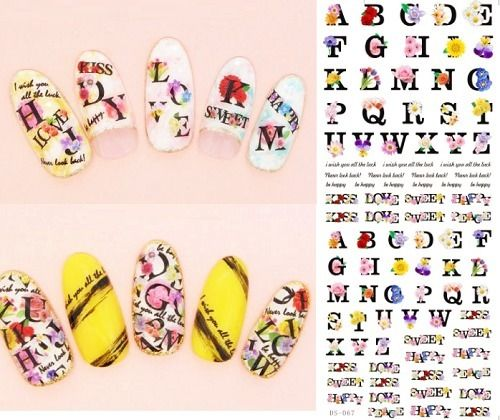 2017 Nail Design Water Transfer Nails Art Sticker Colored Butterfly Nail Wraps Sticker Watermark Fingernails Decals by MyPleasureShop, $2.80 USD