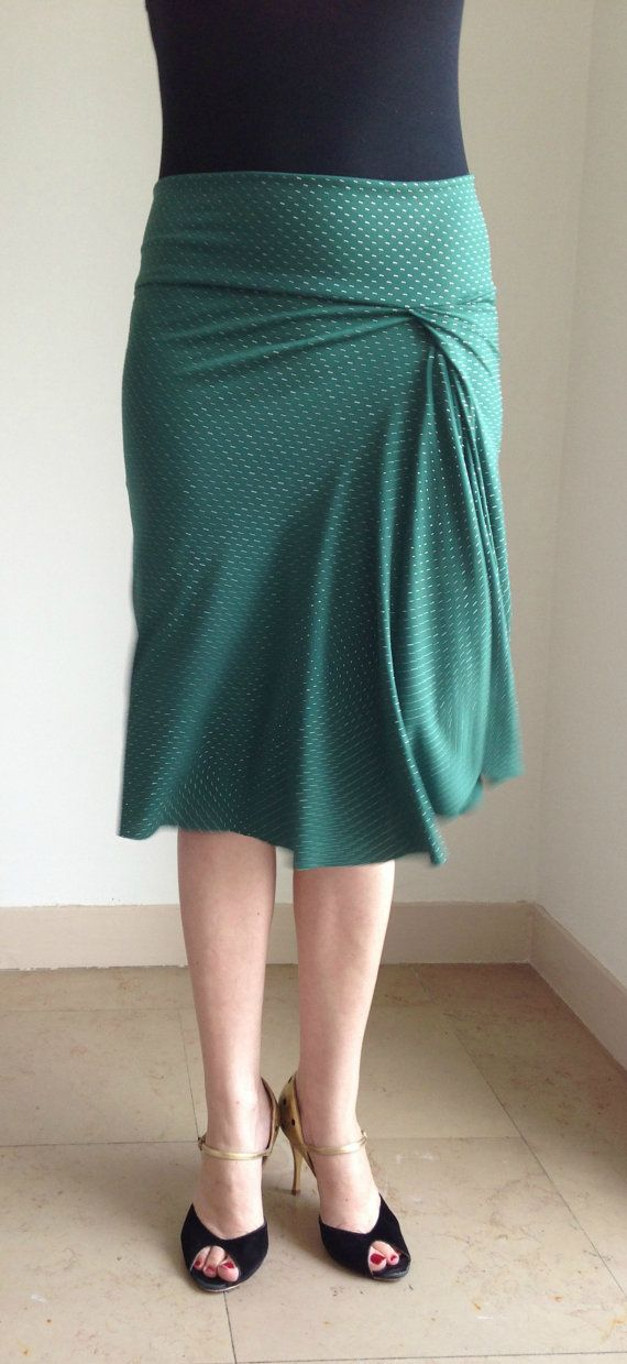 Very beautiful Tango skirt green and studs by BellaTango on Etsy