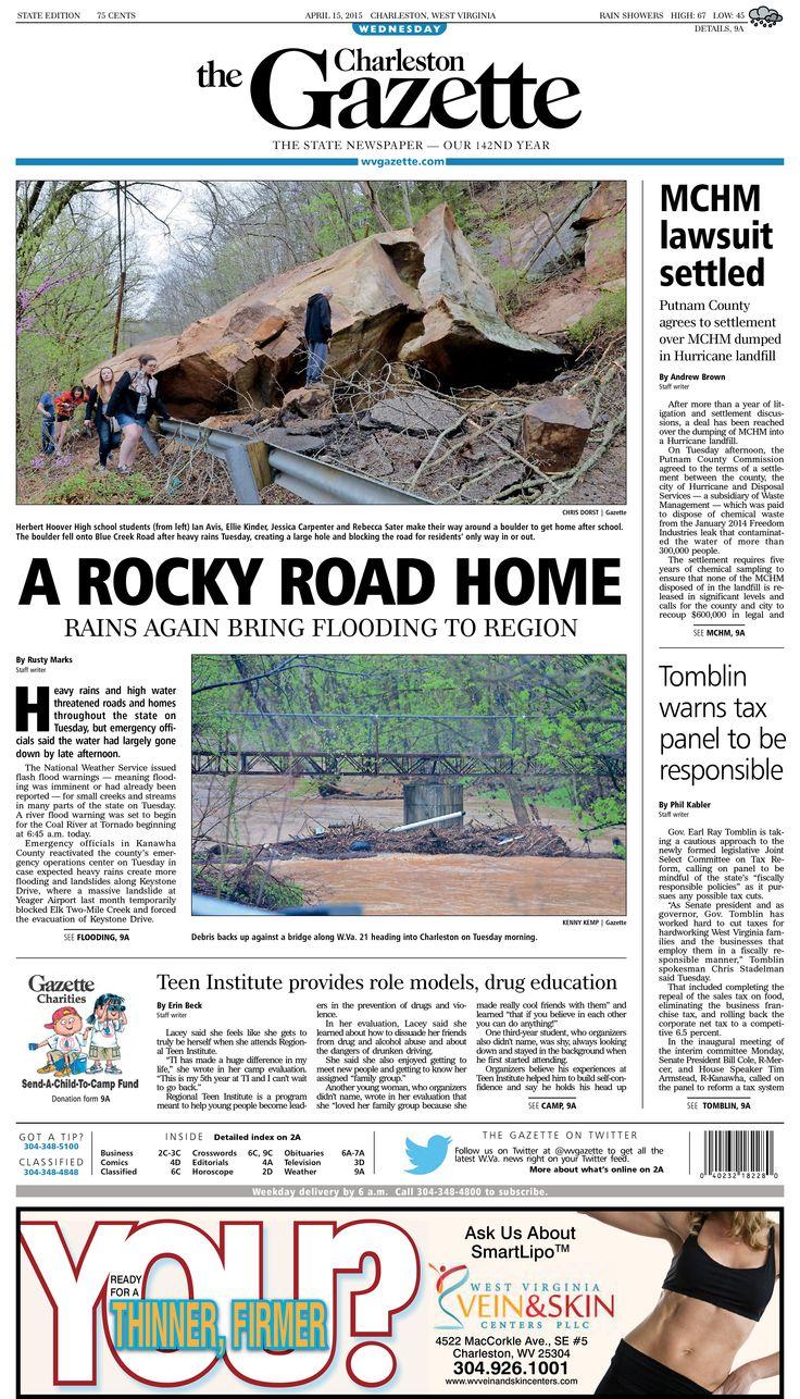 The Charleston Gazette Newspaper layout, Newspaper