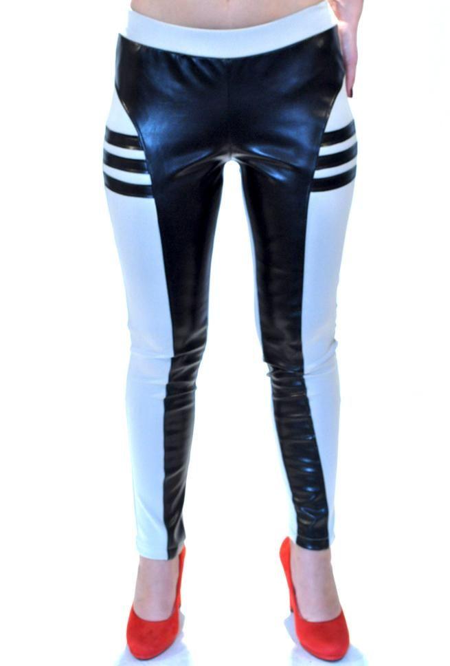 Pantalon Dama Wild Black  Pantalon dama cu croiala pana. Talie inalta ce avantajeaza mai multe tipuri de silueta. Datorita culorii nud cu insertii din latex negru, acest pantalon poate fi usor accesorizat, putand fi purtat la diferite ocazii.     Compozitie: 95%Bumbac, 5%Elasten