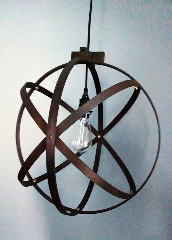 Modern Spherical Light/ Entryway Light/ Chandelier/ Industrial Home Decor/ Modern Lighting/ Ceiling Mounted Light on Etsy, $105.00
