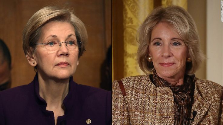Warren: It's time to hold DeVos accountable=Senator Elizabeth Warren argues that Secretary of Education Betsy DeVos is not acting in the best interests of students, and so she is launching DeVos Watch, an online initiative to track every step the Department of Education takes.