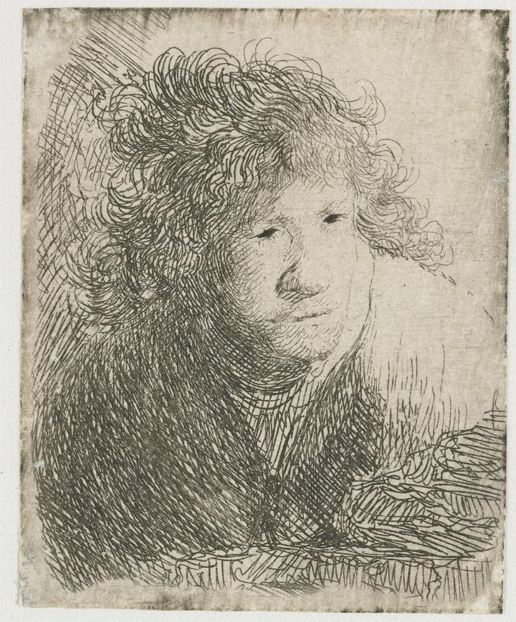 Self-portrait, learning forward listening - 1628  - Rembrandt - WikiArt.org