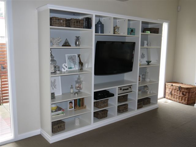 22 best images about tv stand on pinterest ikea billy cabinets and media center. Black Bedroom Furniture Sets. Home Design Ideas