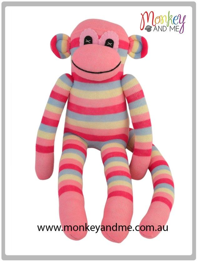 Bella the sock Monkey Adopt over at monkeyandme.com.au #sockmonkeys #gifts #toys
