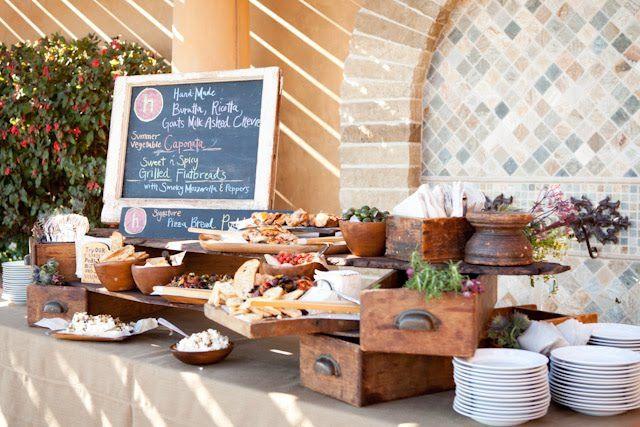 Buffet de boda de especialidades italianas