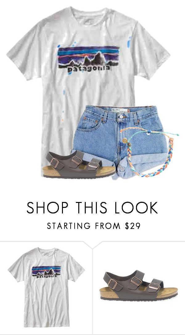 """Loved my pre-birthday weekend. Pics in items❤"" by flroasburn on Polyvore featuring Patagonia, Levi's, Birkenstock and Pura Vida"