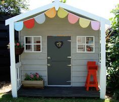 whole page on this adorable playhouse (with beautiful interior)
