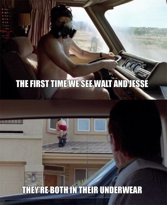 The first time we see Walt and Jesse (Breaking Bad)