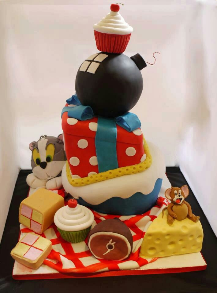Pictures Of Tom And Jerry Birthday Cakes Allofthepictscom