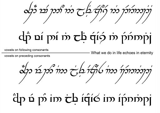 Elvish. Tattoo? | Lord of the Rings/The Hobbit | Pinterest ...